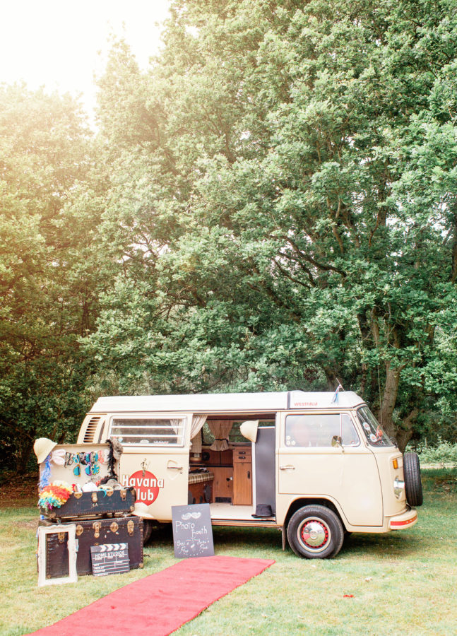 VW Camper Van Photobooth Booth Bus Hire set up with prop box
