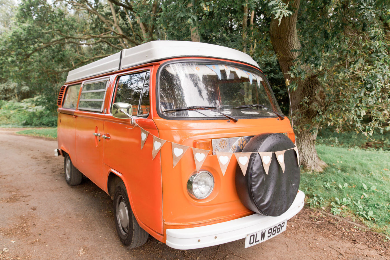 Wedding Hire VW Camper Van Wedding Transport