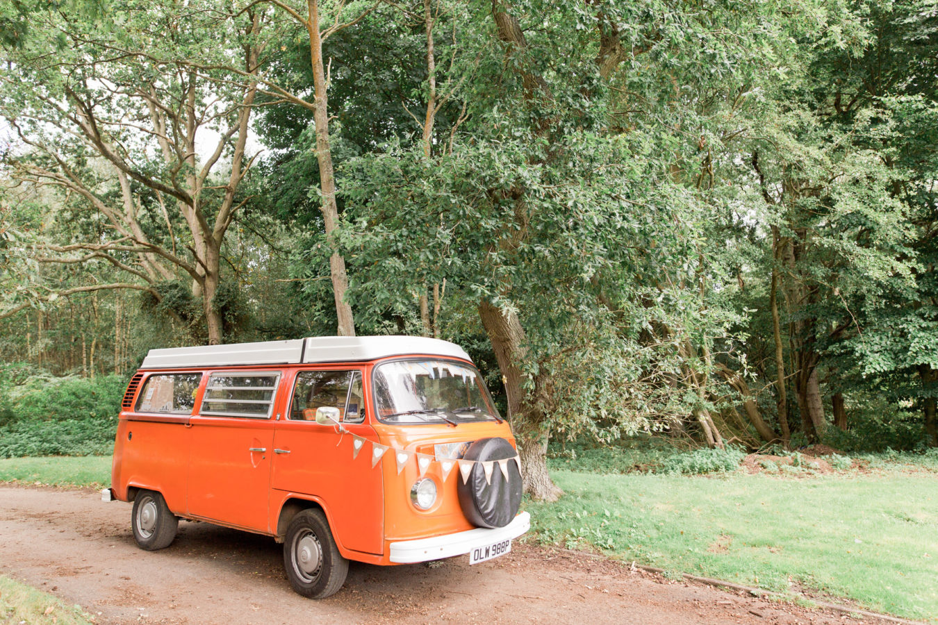 Wedding Hire VW Camper Van Wedding Transport landscape
