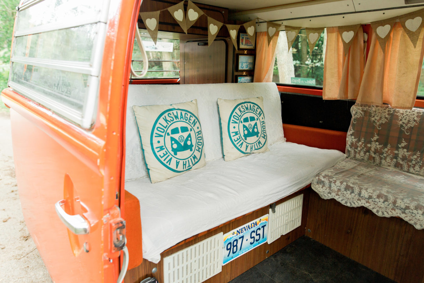 Wedding Hire VW Camper Van Wedding Transport interior