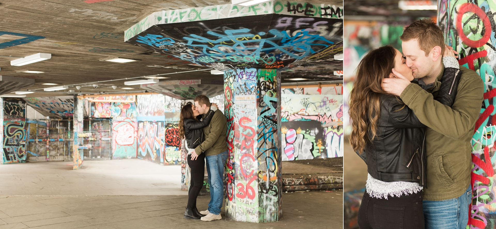 London Fine Art Engagement Photography skate park