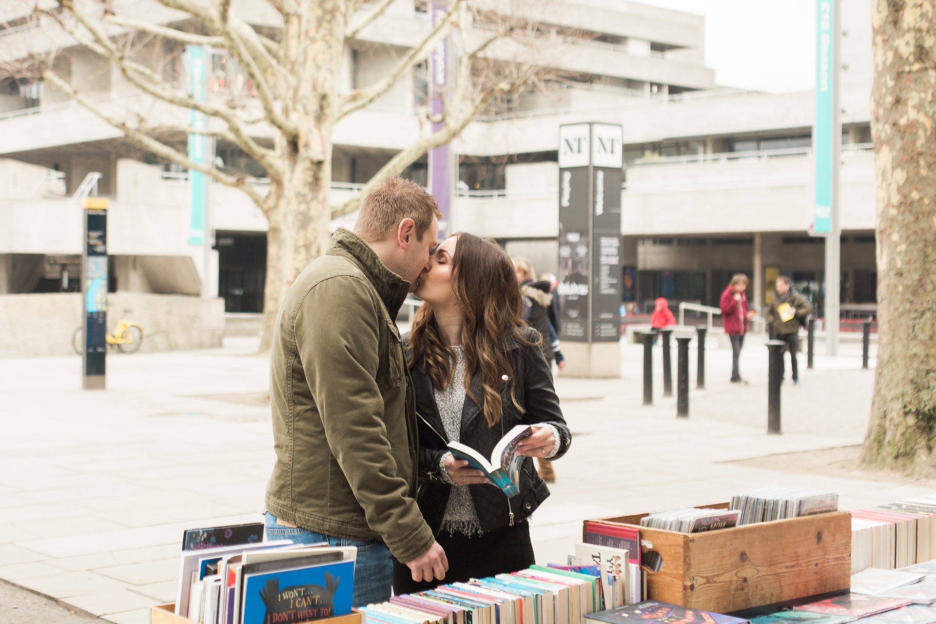 London Fine Art Engagement Photography old book market