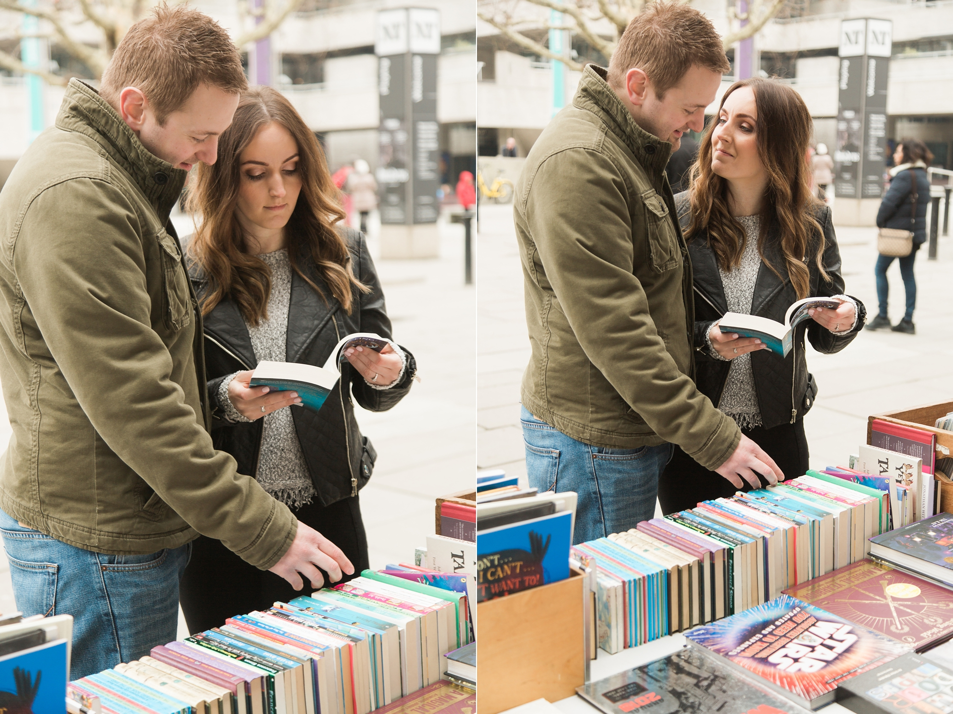London Fine Art Engagement Photography candid shopping