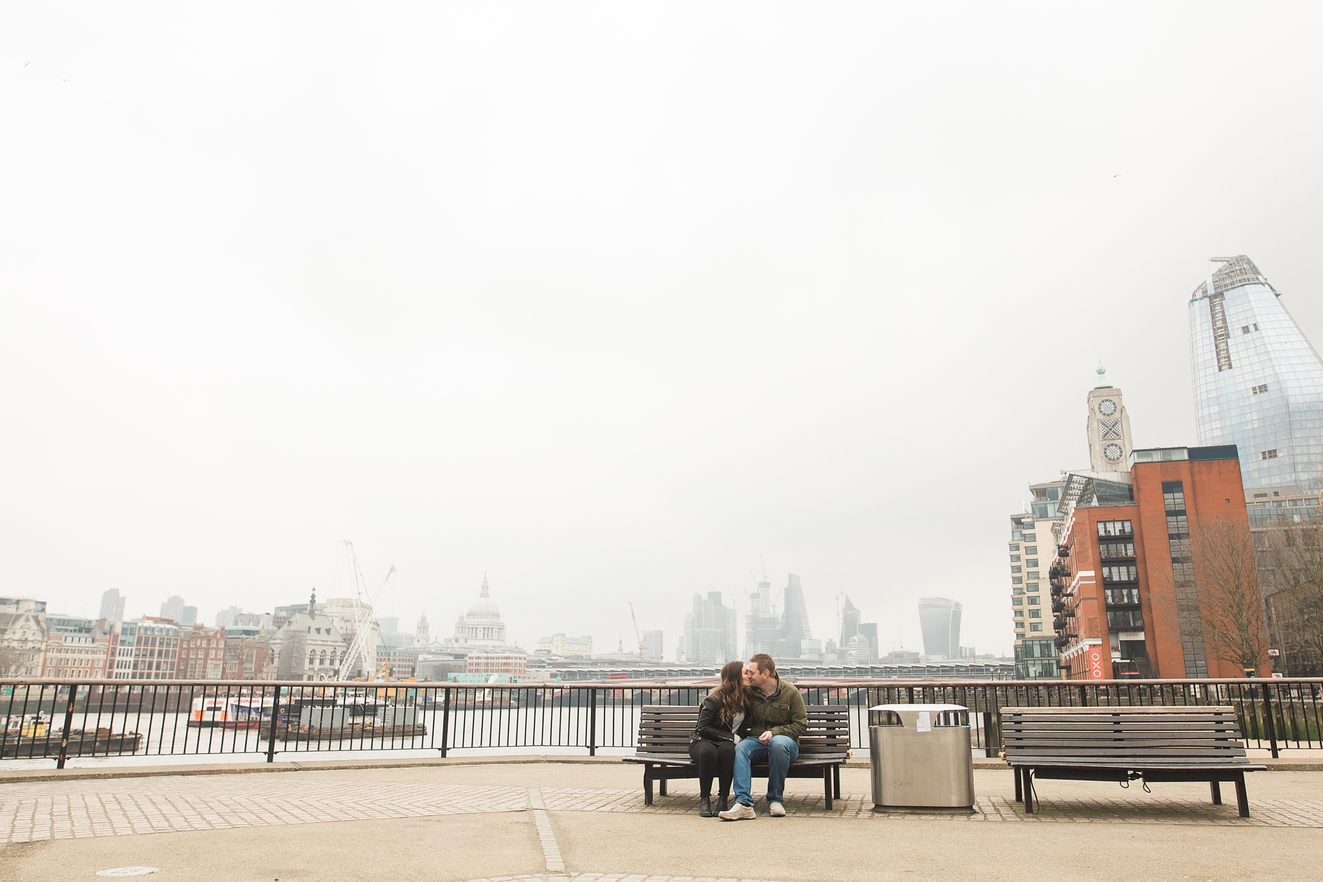 London Fine Art Engagement Photography the Shard view