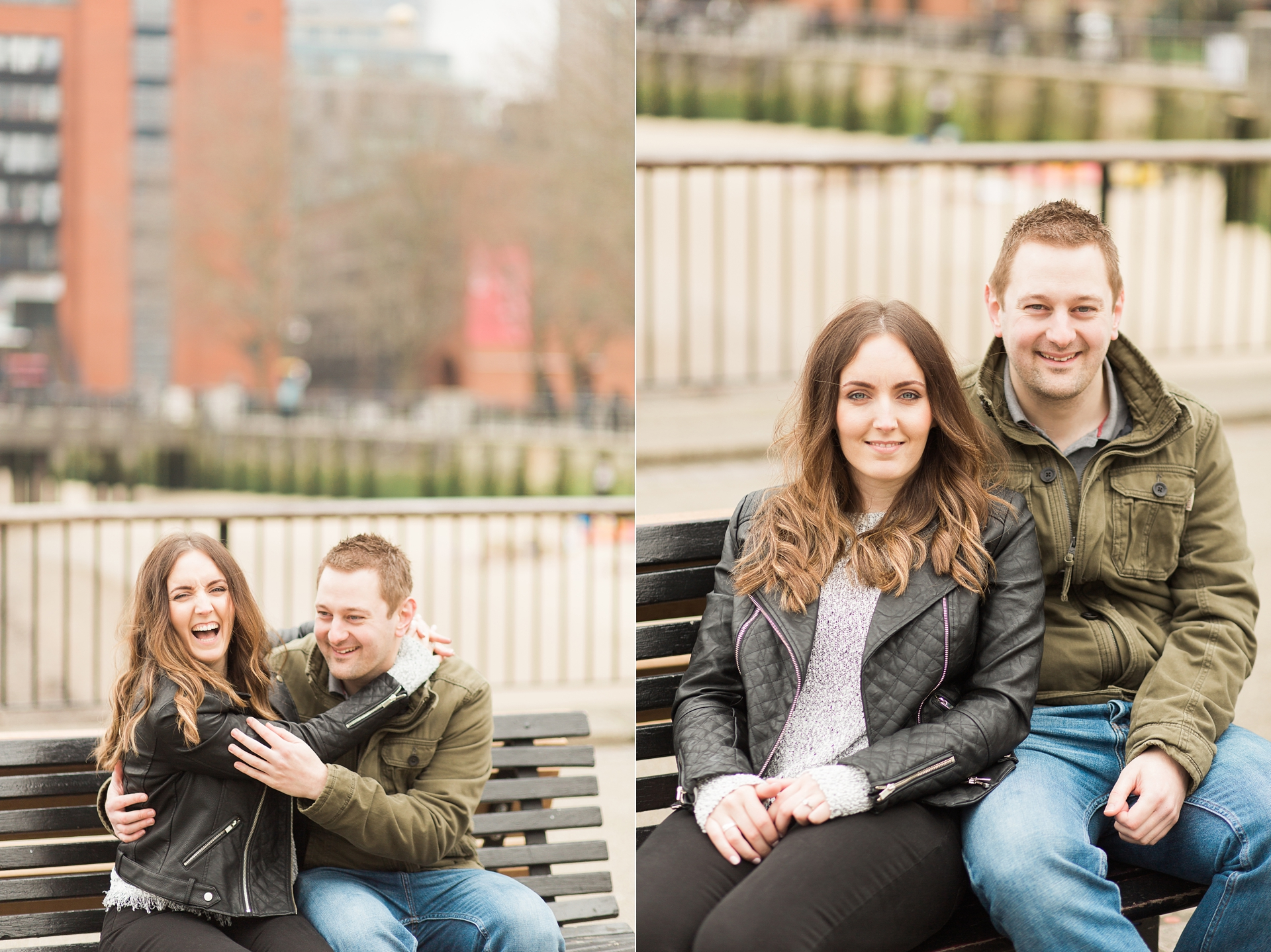 London Fine Art Engagement Photography laughing couple