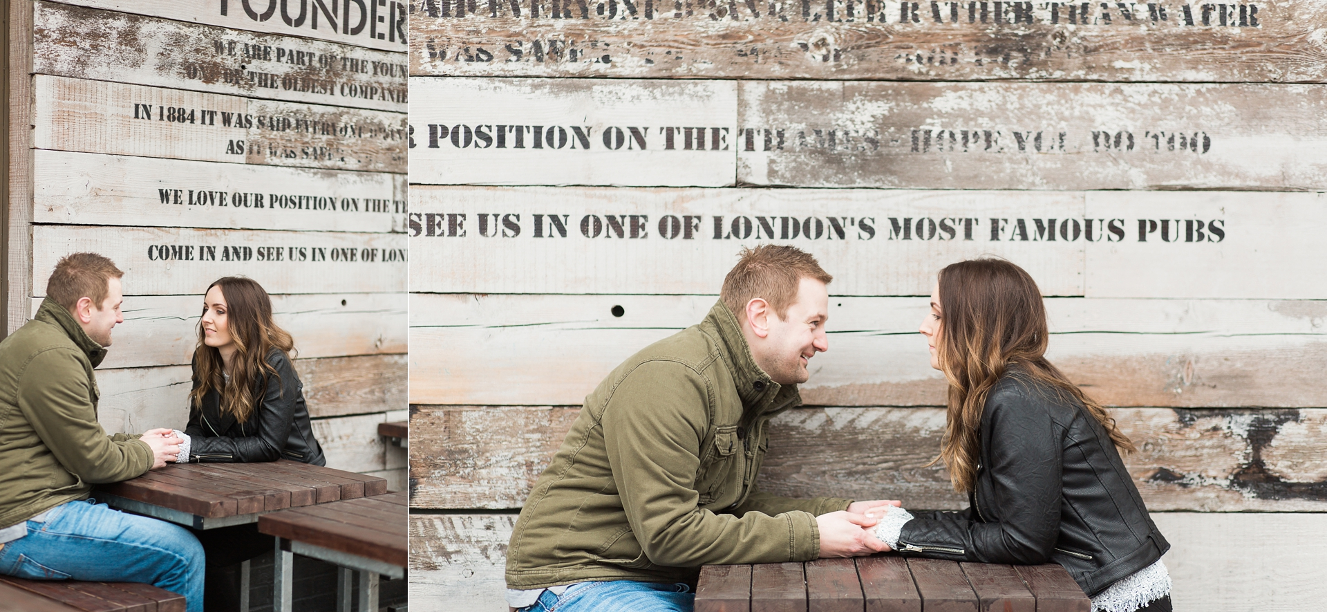 London Fine Art Engagement Photography cafe