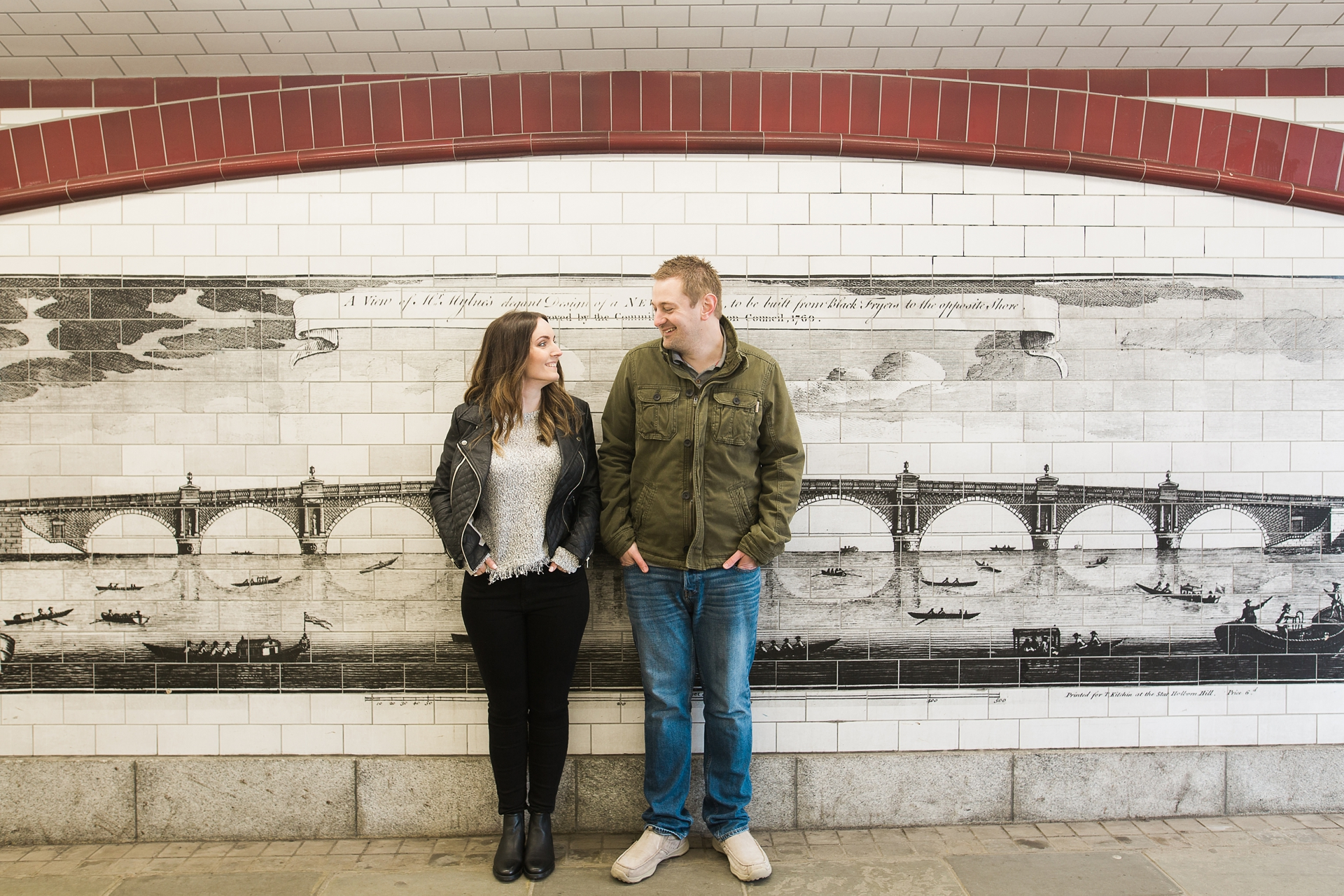 London Fine Art Engagement Photography old mural of London