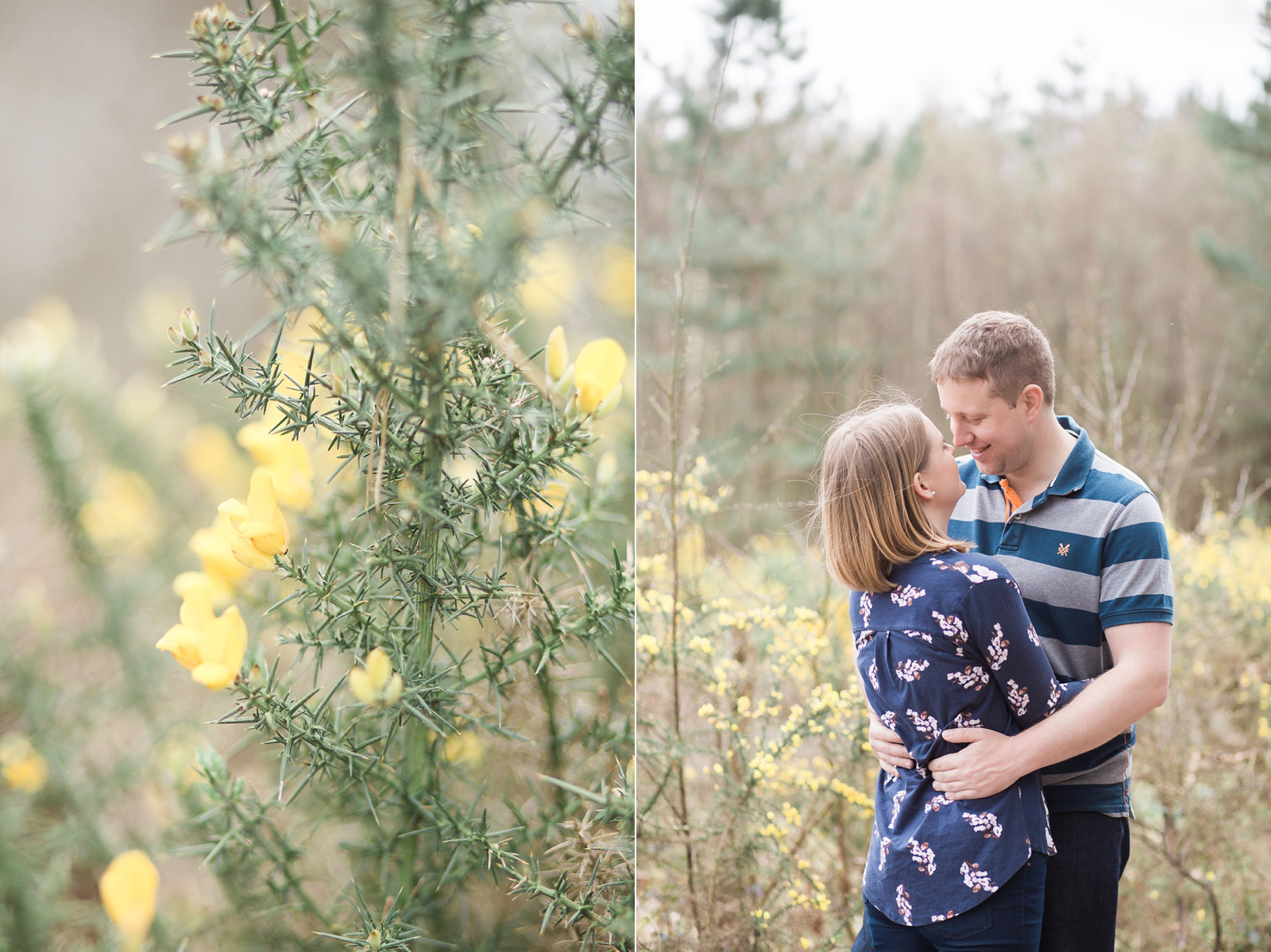 Dreamy woodland engagement shoot fine art wedding photography in spring